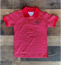 Two Feet Ahead Two Feet Ahead- Tech Stripe Jersey Golf Shirt