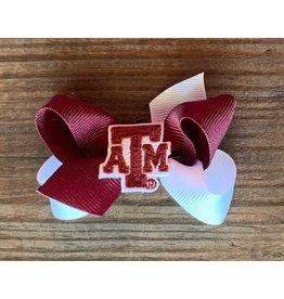 Wee Ones - Mini 2Tone w/TAMU patch bow