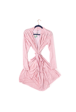 Gigi & Max Gigi & Max - Addison Pink Gingham Mommy Robe