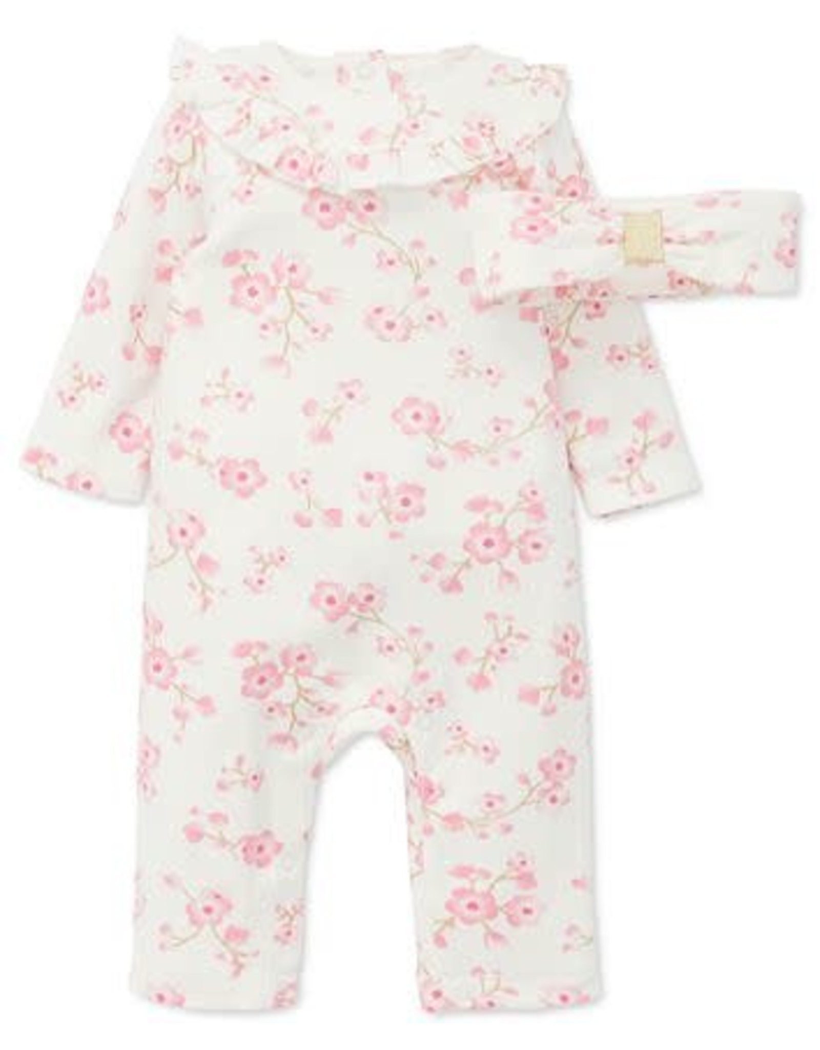 Little Me Little Me- Cherry Blossom Coverall