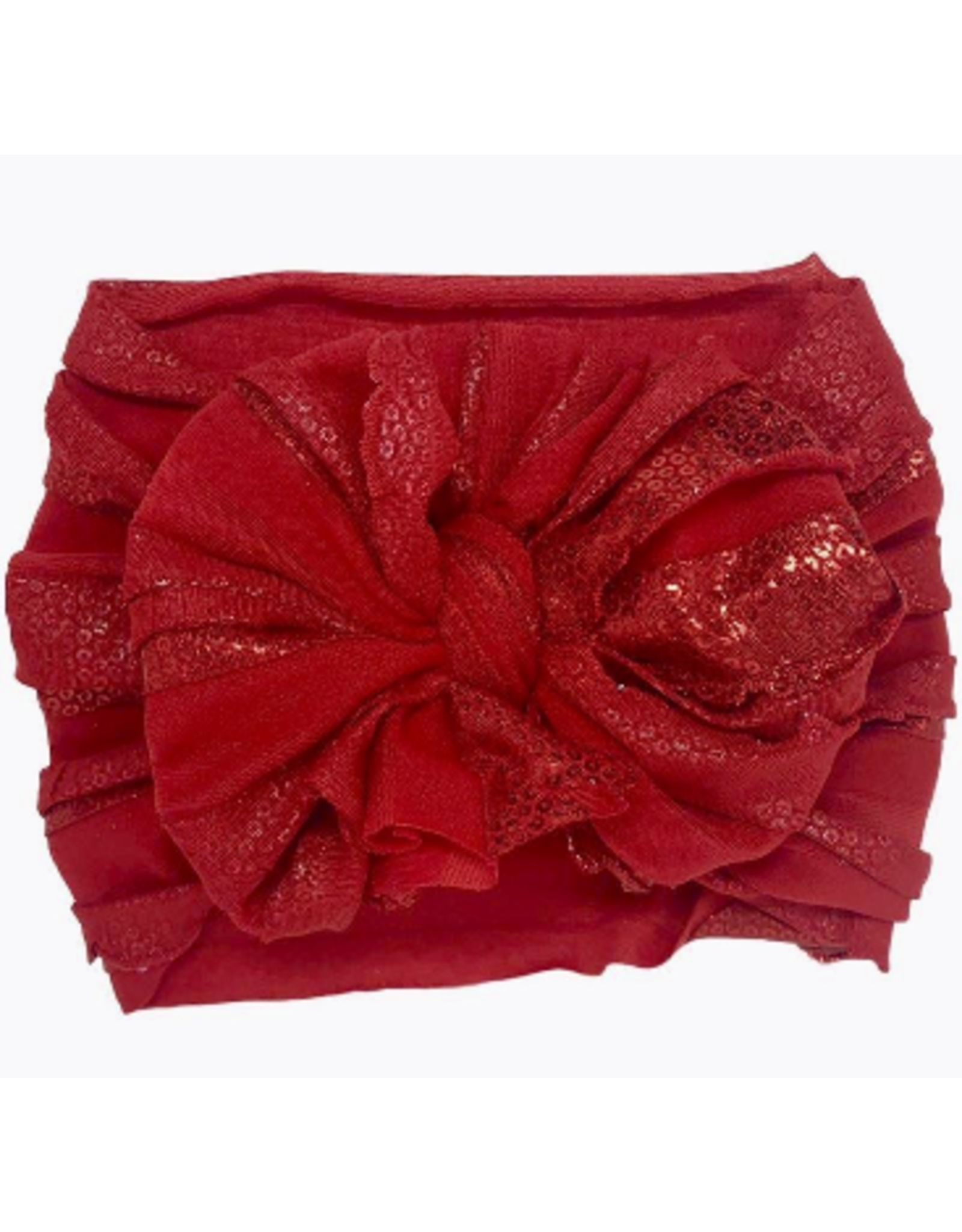 In Awe- Red Foil Sequin Headband