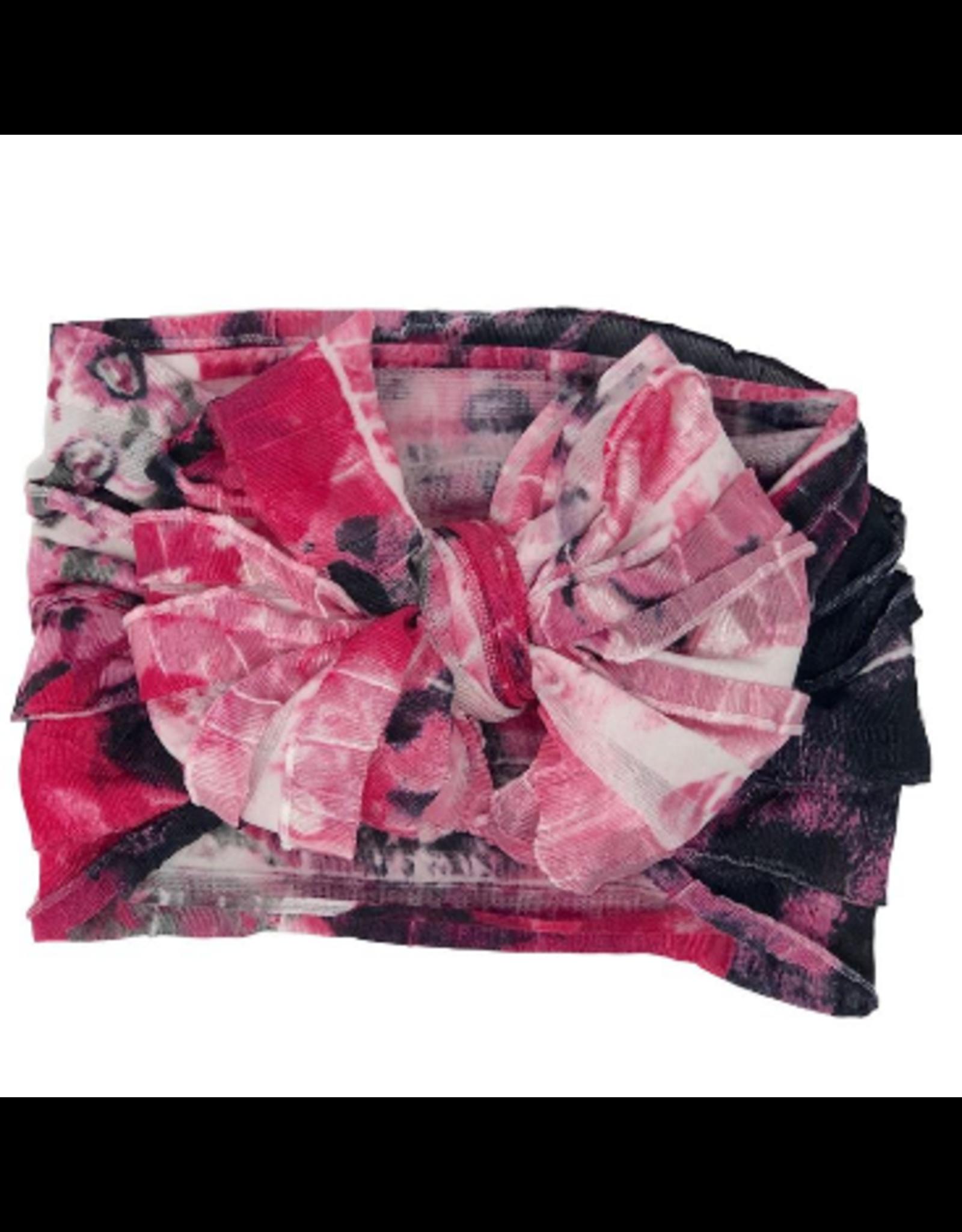In Awe- Bright Pink Blossom Headband