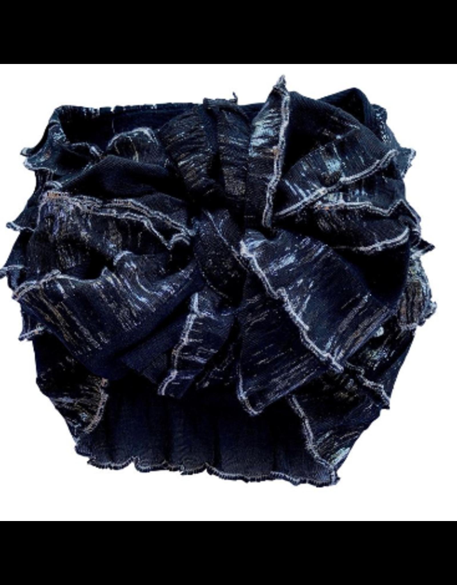 In Awe-Black Silver Shimmer Headband