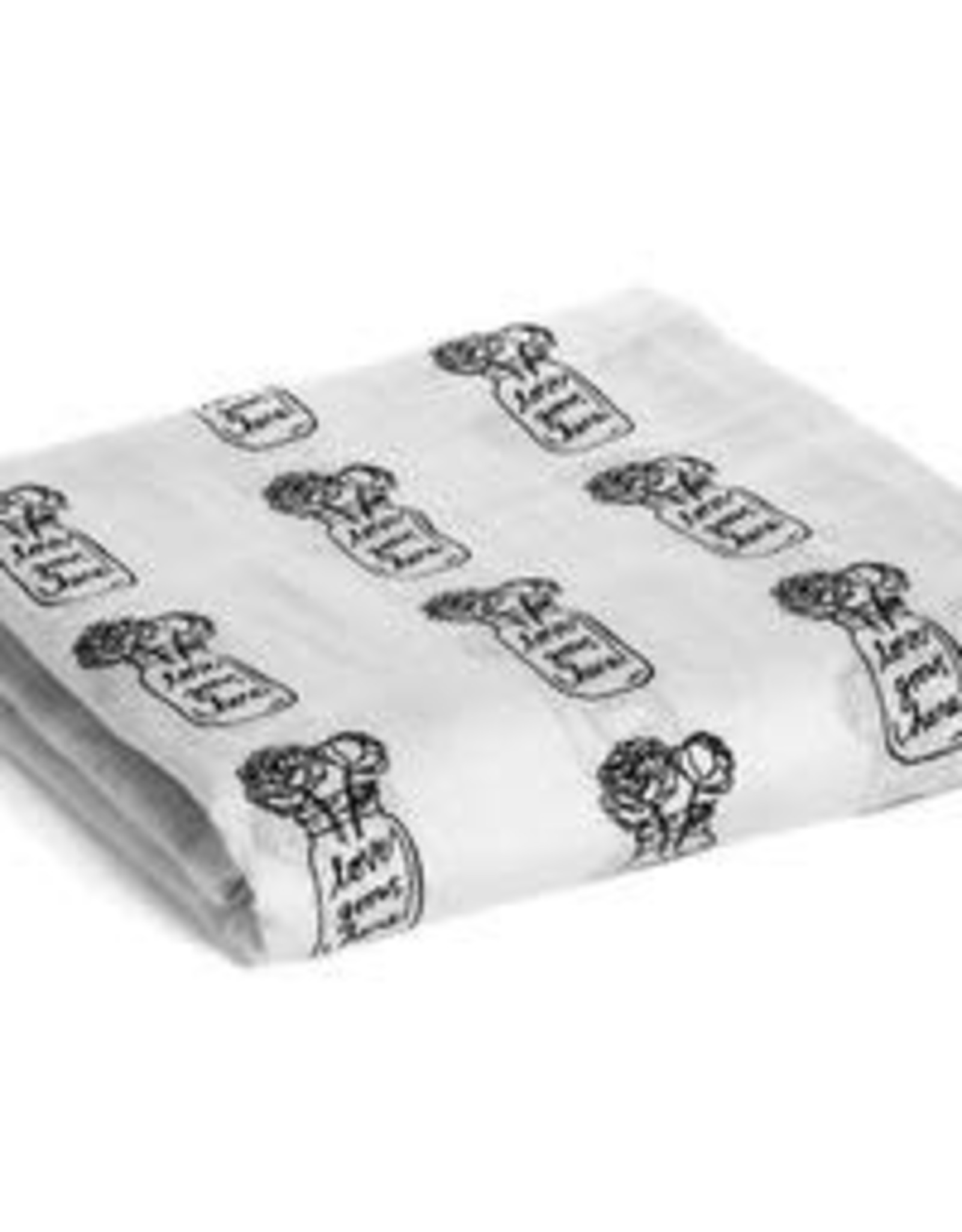 Modern Burlap MB Love Grows Here Swaddle