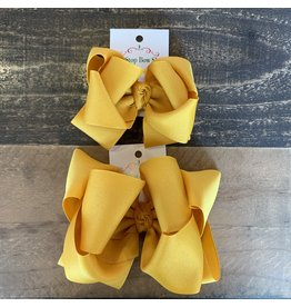 OS- Mustard Stacked Grosgrain Bow