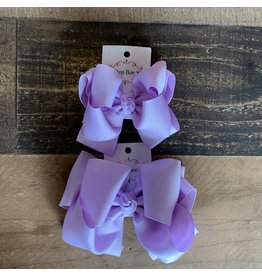 OS- Lavender Stacked Grosgrain Bow