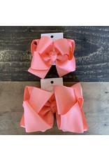 OS- Coral Stacked Grosgrain Bow