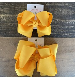 OS- Yellow Gold Stacked Grosgrain Bow