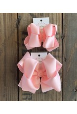 OS - Baby Pink Stacked Grosgrain Bow