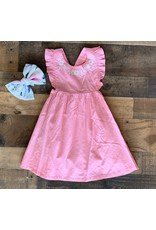 JoJo Maman Bebe' JoJo- Pretty Embroidered Summer Dress- Dusky Pink