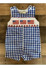 Navy Gingham Flag Jon Jon