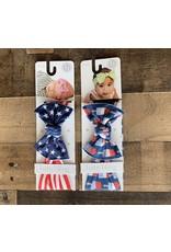 Baby Bling Baby Bling- Printed Knot- Patriotic