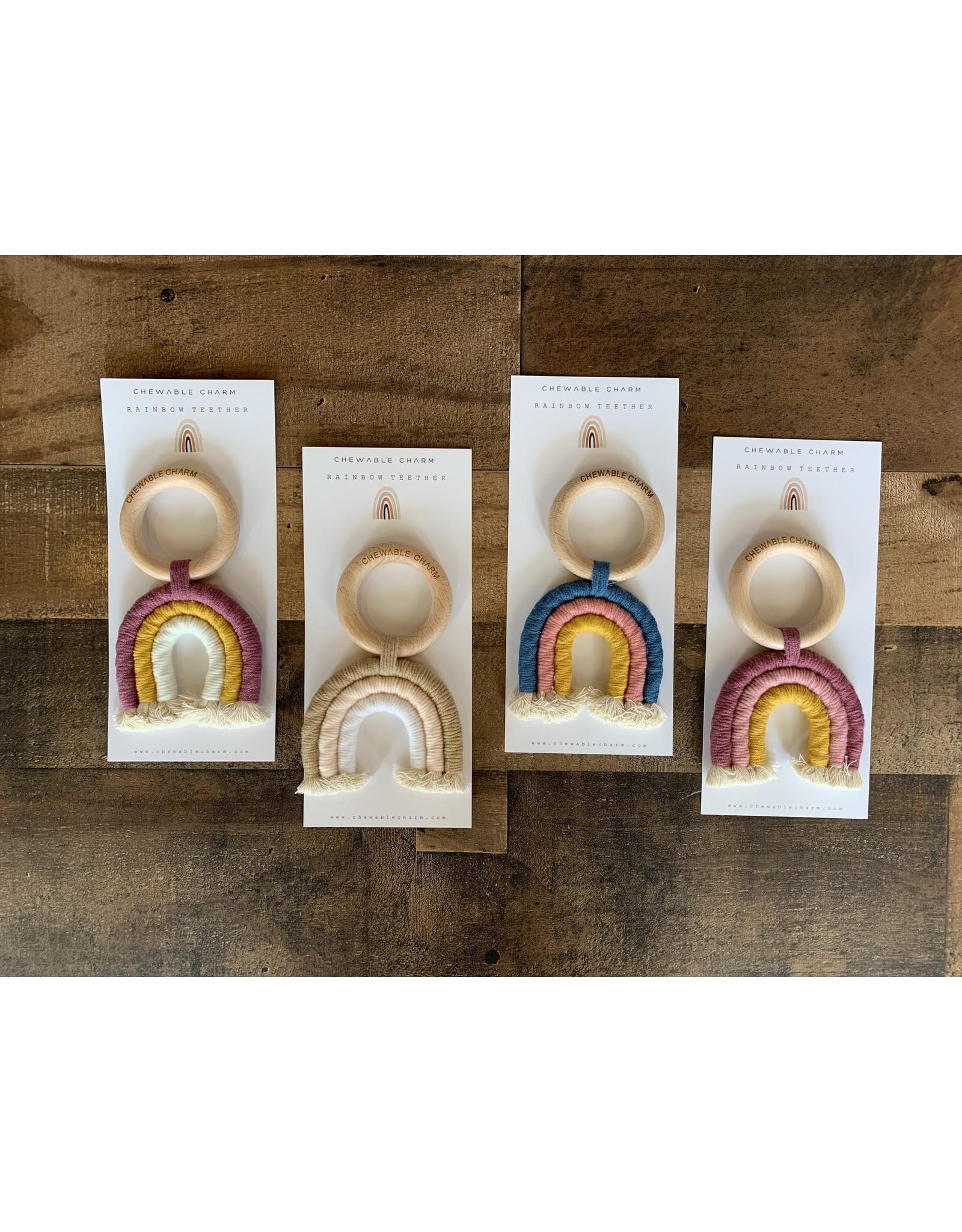 Chewable Charm- Rainbow Macrame Teether