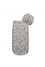Itzy Ritzy Itzy Ritzy- Cutie Cocoon: Blush Leopard Cocoon & Hat Set 0-3M