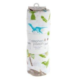 stephen joseph Stephen Joseph- Muslin Blanket: Dino