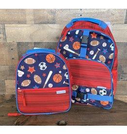 stephen joseph Stephen Joseph: All Over Print Backpack & Lunchbox Set: Sports