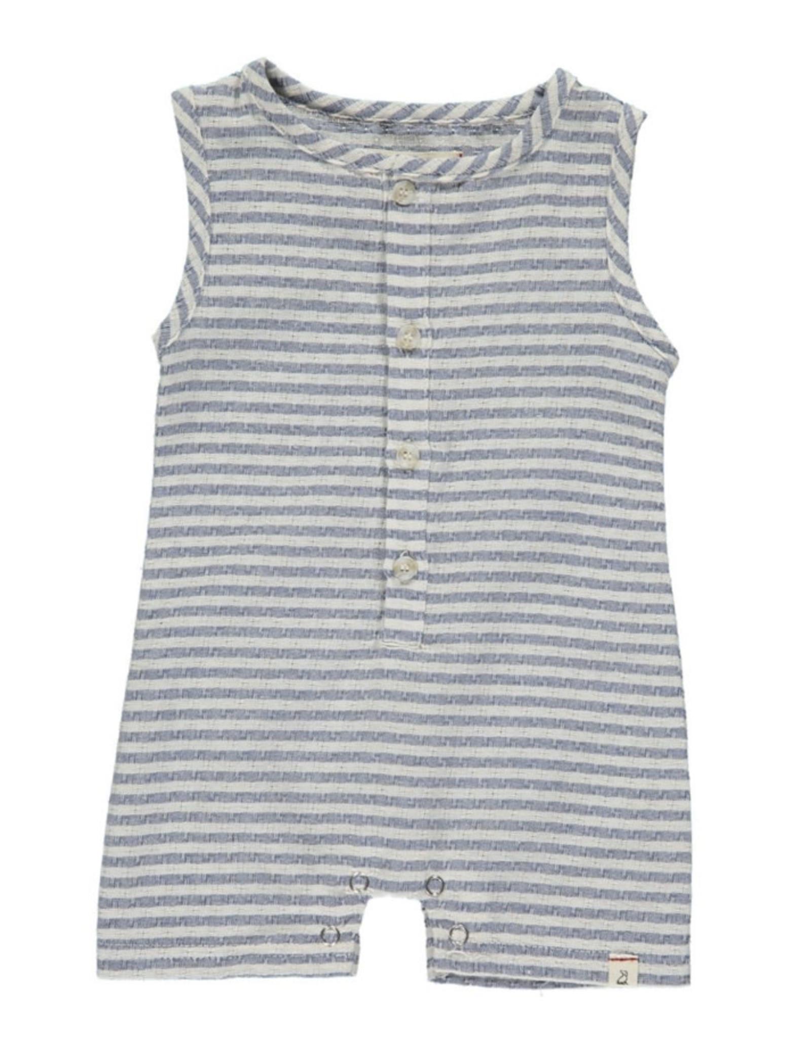 Me & Henry Me & Henry - Blue/White Stripe Woven Playsuit