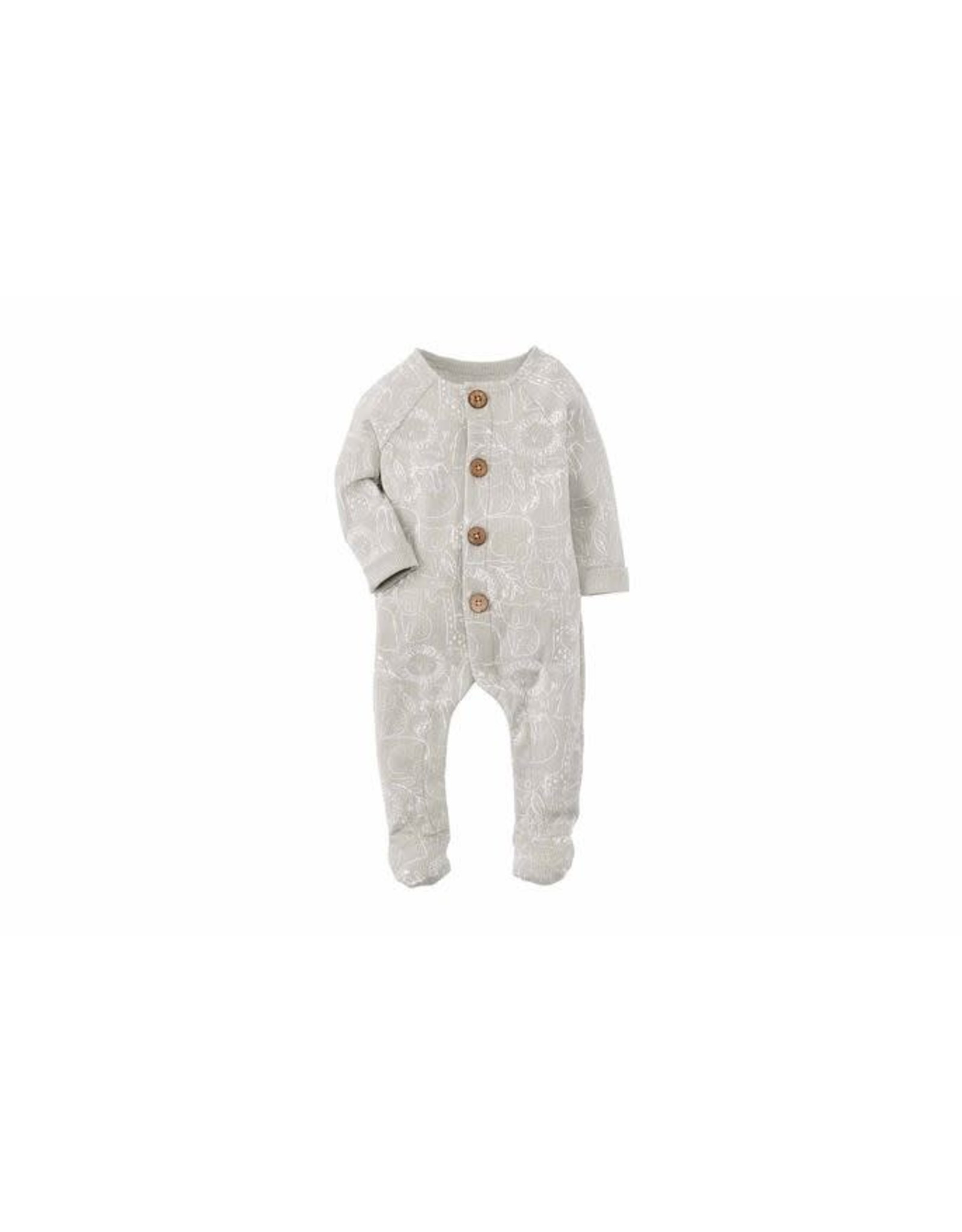 Mudpie Mud Pie- Safari Print Sleeper 3/6M
