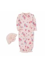 Mudpie Mud Pie- Little Bloom Gown Hat Set 0/3M