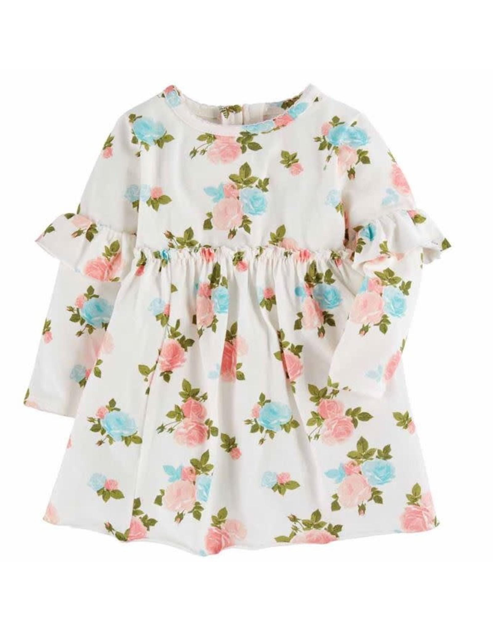 Mudpie Mud Pie- Rose Floral Infant Dress