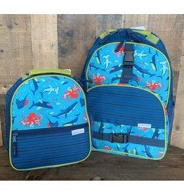 stephen joseph Stephen Joseph - All Over Backpack & Lunchbox Set Shark New