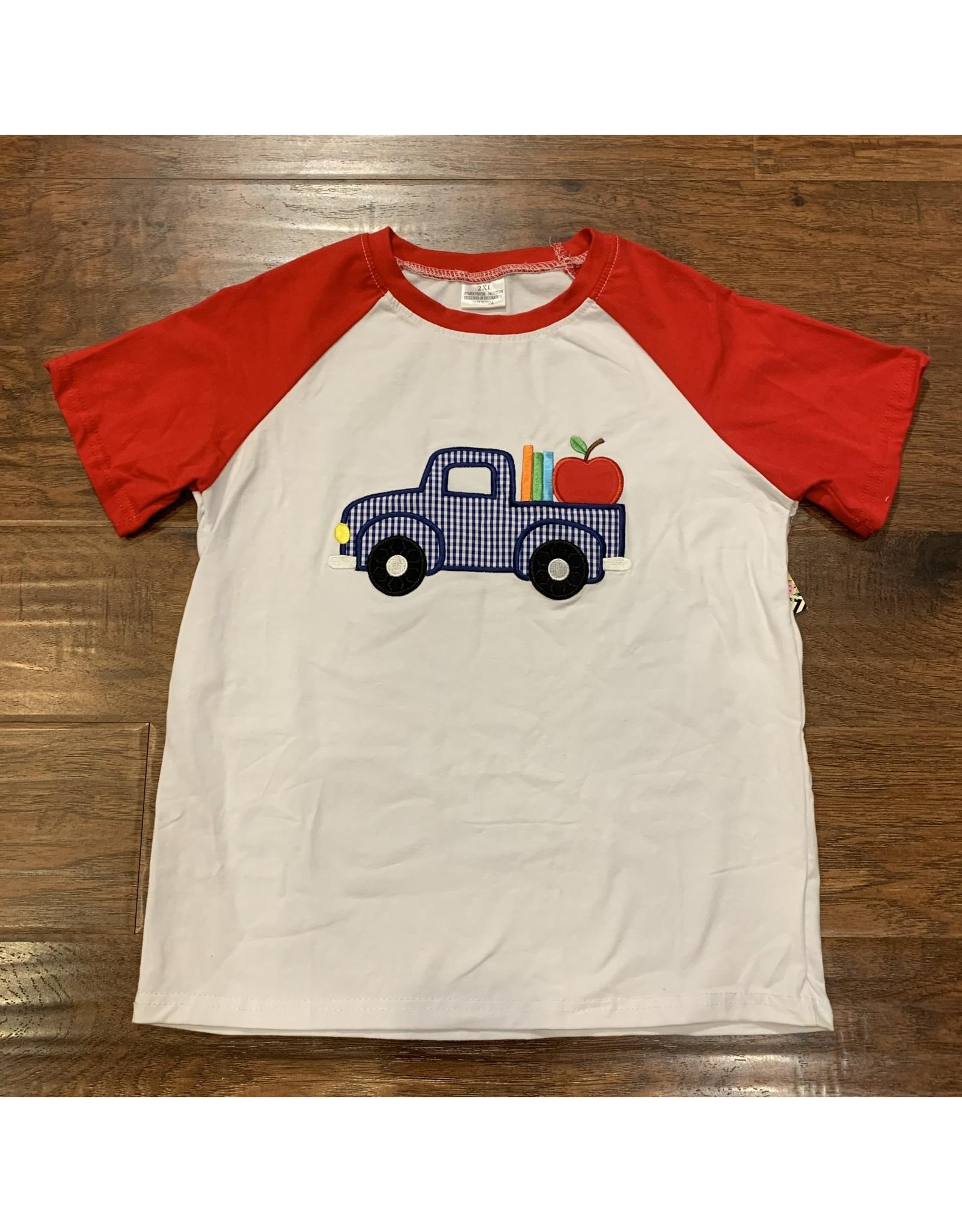 Apple Applique S/S Raglan Shirt