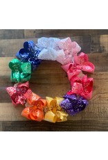 Beyond Creations Beyond Creations- Silver Swirl Foil Knot Bow