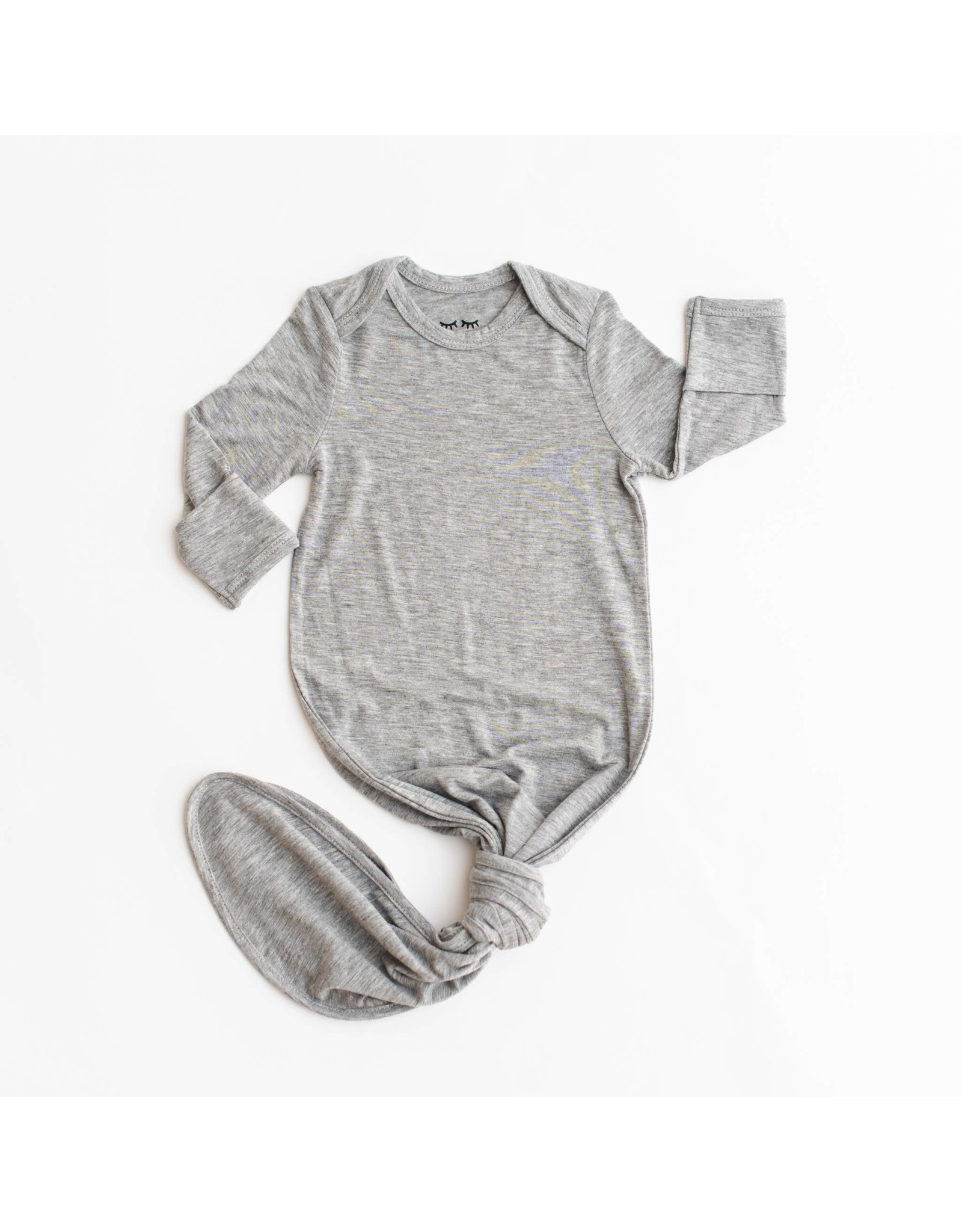 Little Sleepies Little Sleepies- Heather Grey Bamboo Knotted Gown NB-3M