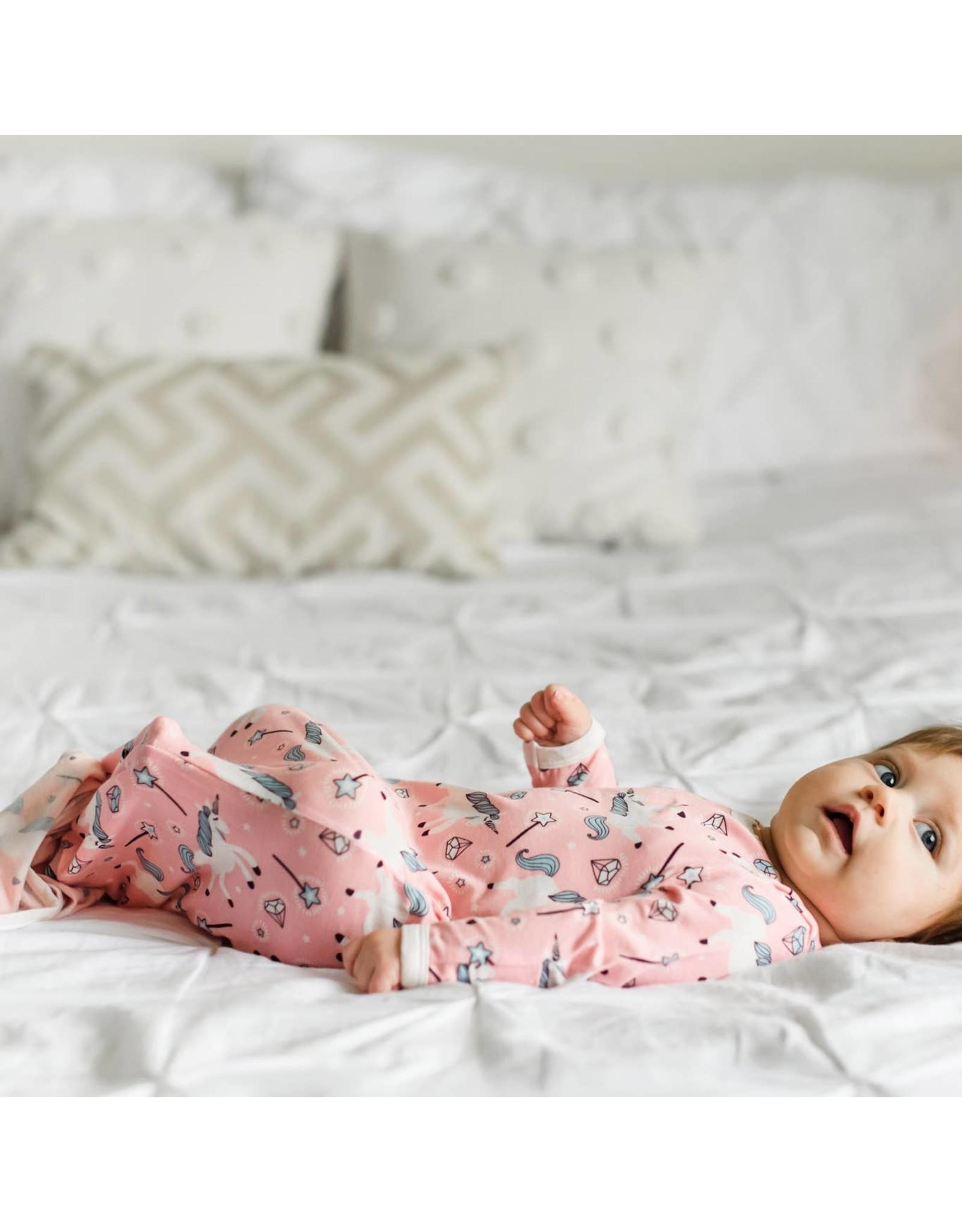 Little Sleepies Little Sleepies- Unicorns  Bamboo Knotted Gown NB-3M