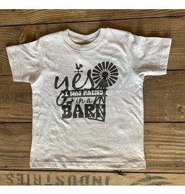 Raised in a Barn TShirt- Grey
