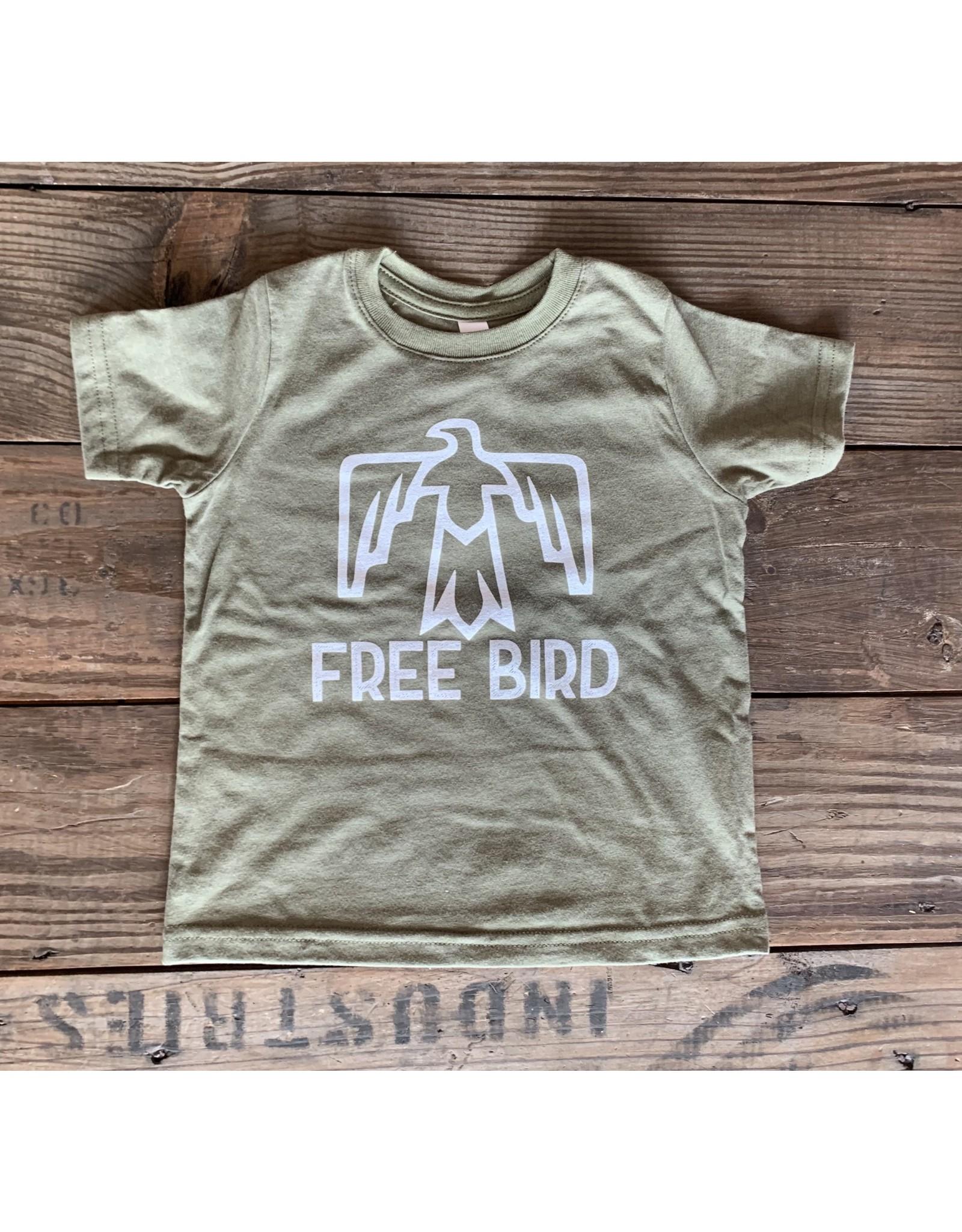 Free Bird TShirt- Army Green