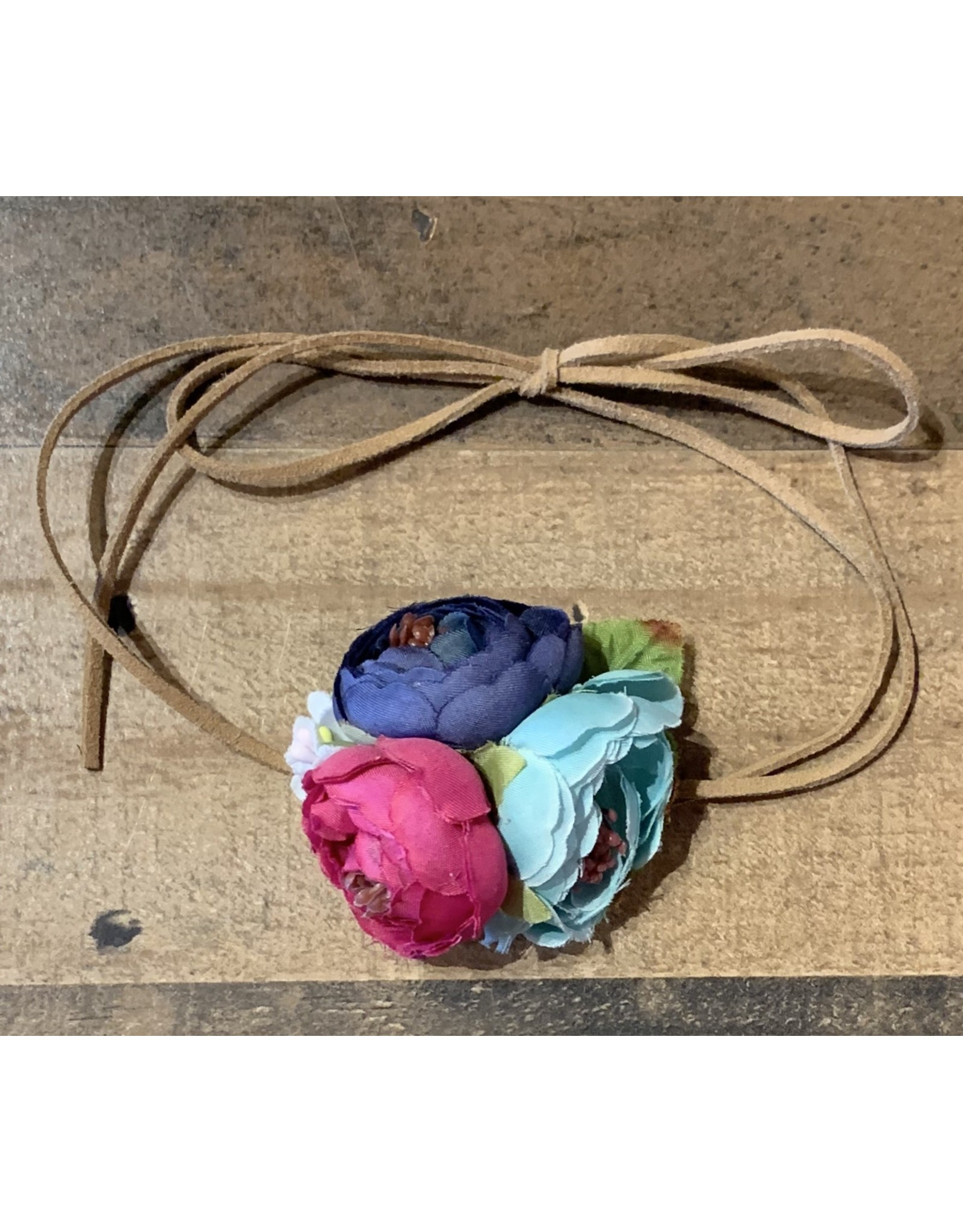 Baileys Blossoms Bailey's Blossoms- Shabby Floral Tie Back Headband