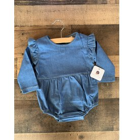 loved by Jade Presley loved by jade presley- Blue Jean Denim L/S Bubble