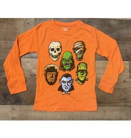 Wes & Willy- Monsters Orange Blend L/S Tee