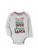 Mudpie Mud Pie- This Little Dude loves Santa Crawler 0-6M