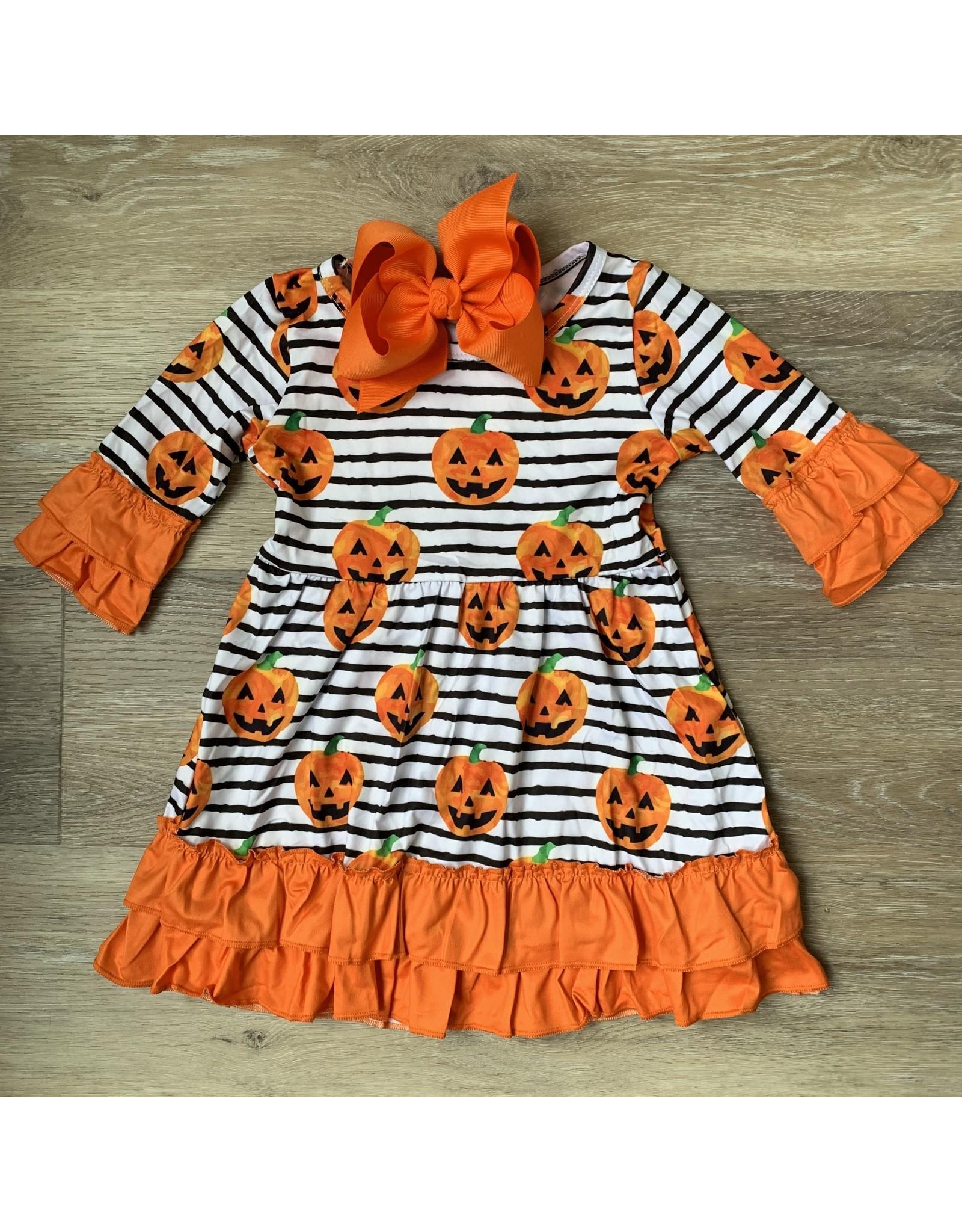 Jack O Lantern Stripe Dress
