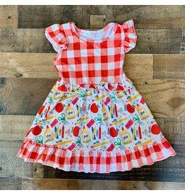 Red Plaid School Dress