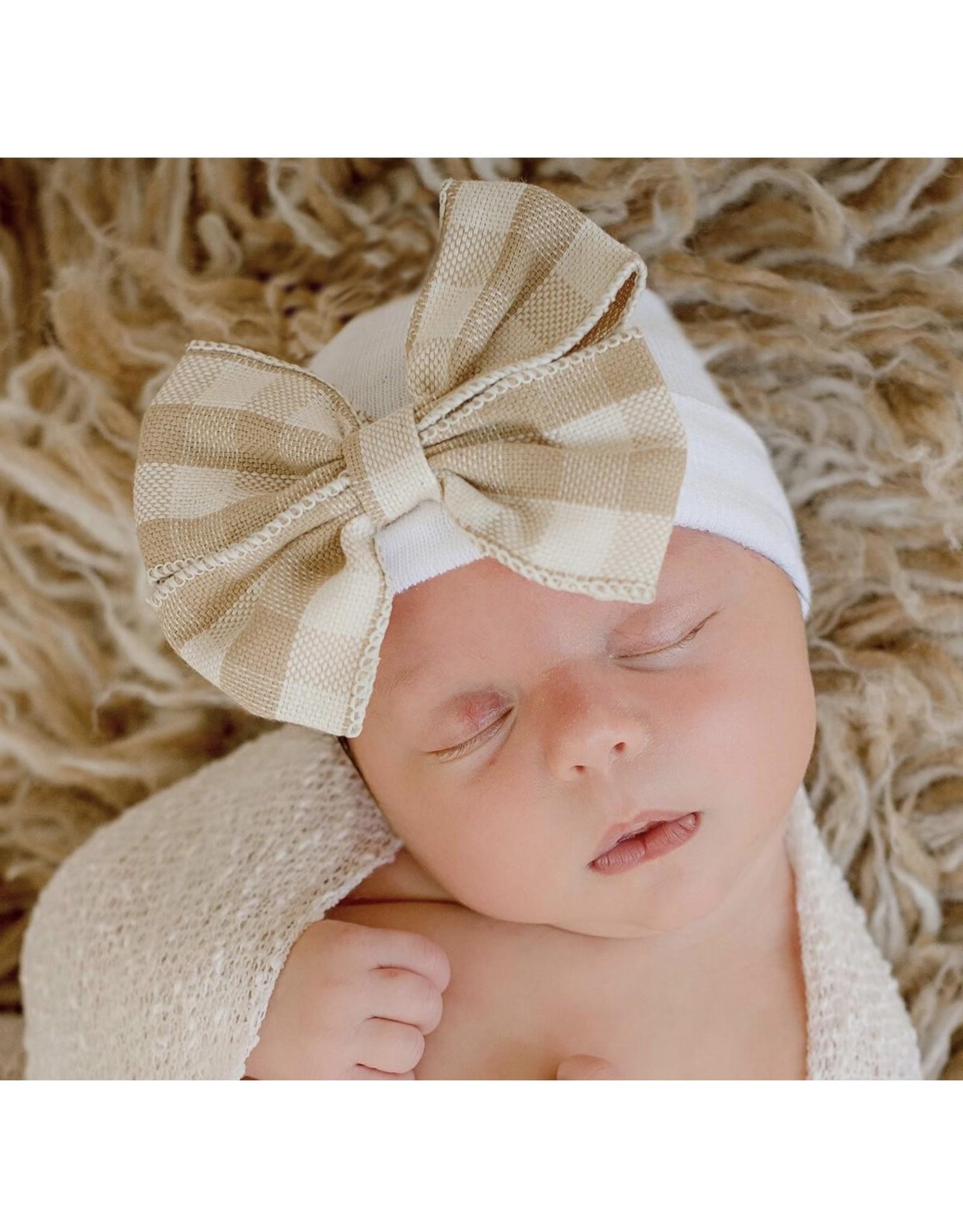 ILYBEAN Ilybean - Taupe Tan Bow Nursery Beanie