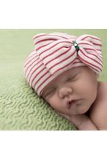 ILYBEAN Ilybean- Christmas Stripe Bow Nursery Beanie