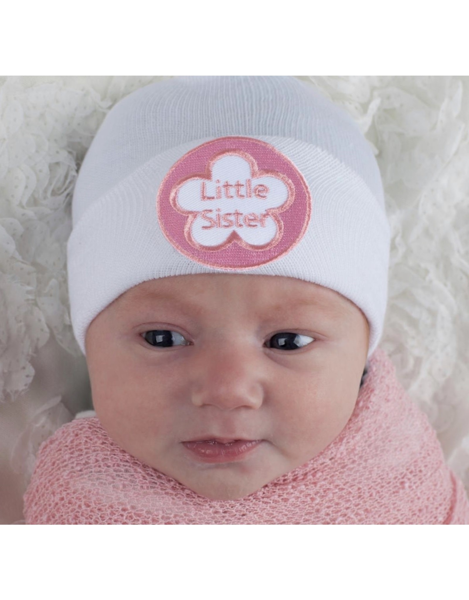 ILYBEAN Ilybean- White Little Sister Nursery Beanie