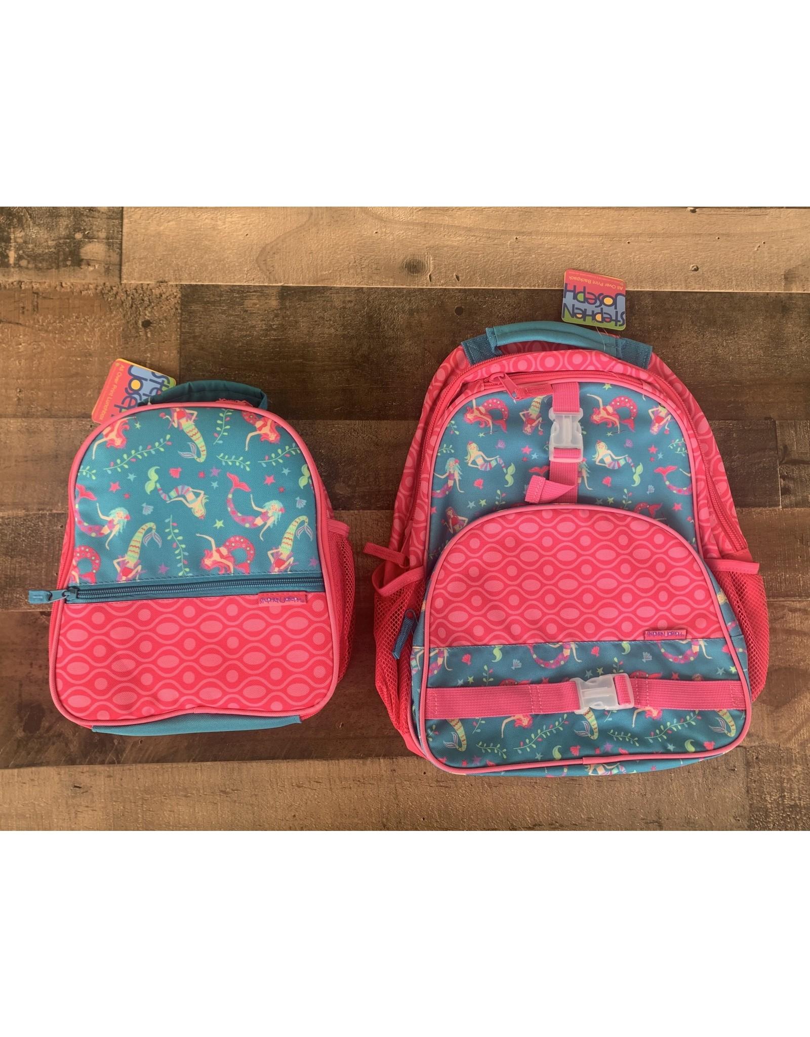 stephen joseph Stephen & Joseph - All Over Print Mermaid Backpack & Lunchbox Set
