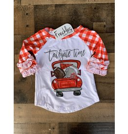 Tailgate Raglan Football Shirt: Red
