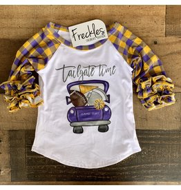 Tailgate Raglan Football Shirt: Purple
