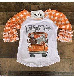 Tailgate Raglan Football Shirt: Orange