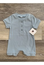 loved by Jade Presley loved by jade presley- Cole Button Romper: Light Blue