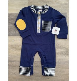 loved by Jade Presley loved by jade presley- Tanner Navy Stripe Pocket Jumpsuit