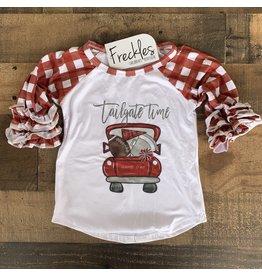 Tailgate Raglan Football Shirt: Maroon