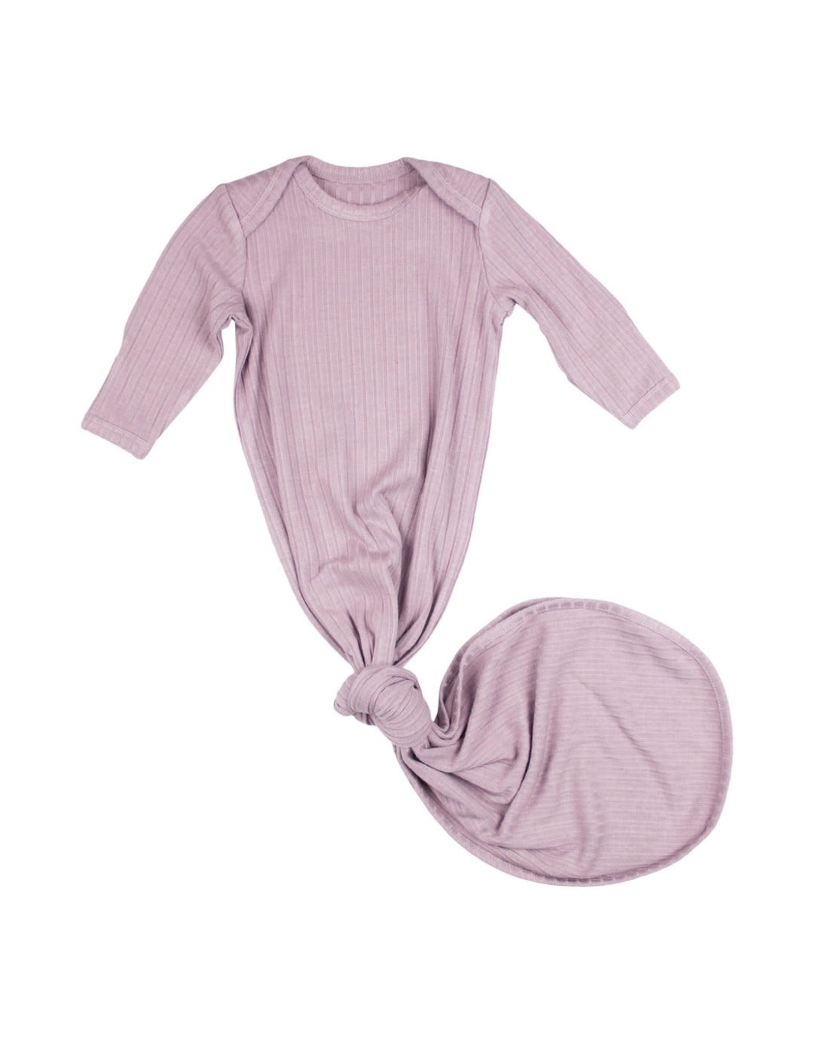 Brave Little Ones Brave Little Ones- Lilac Ribbed Knotted Gown 0/3M