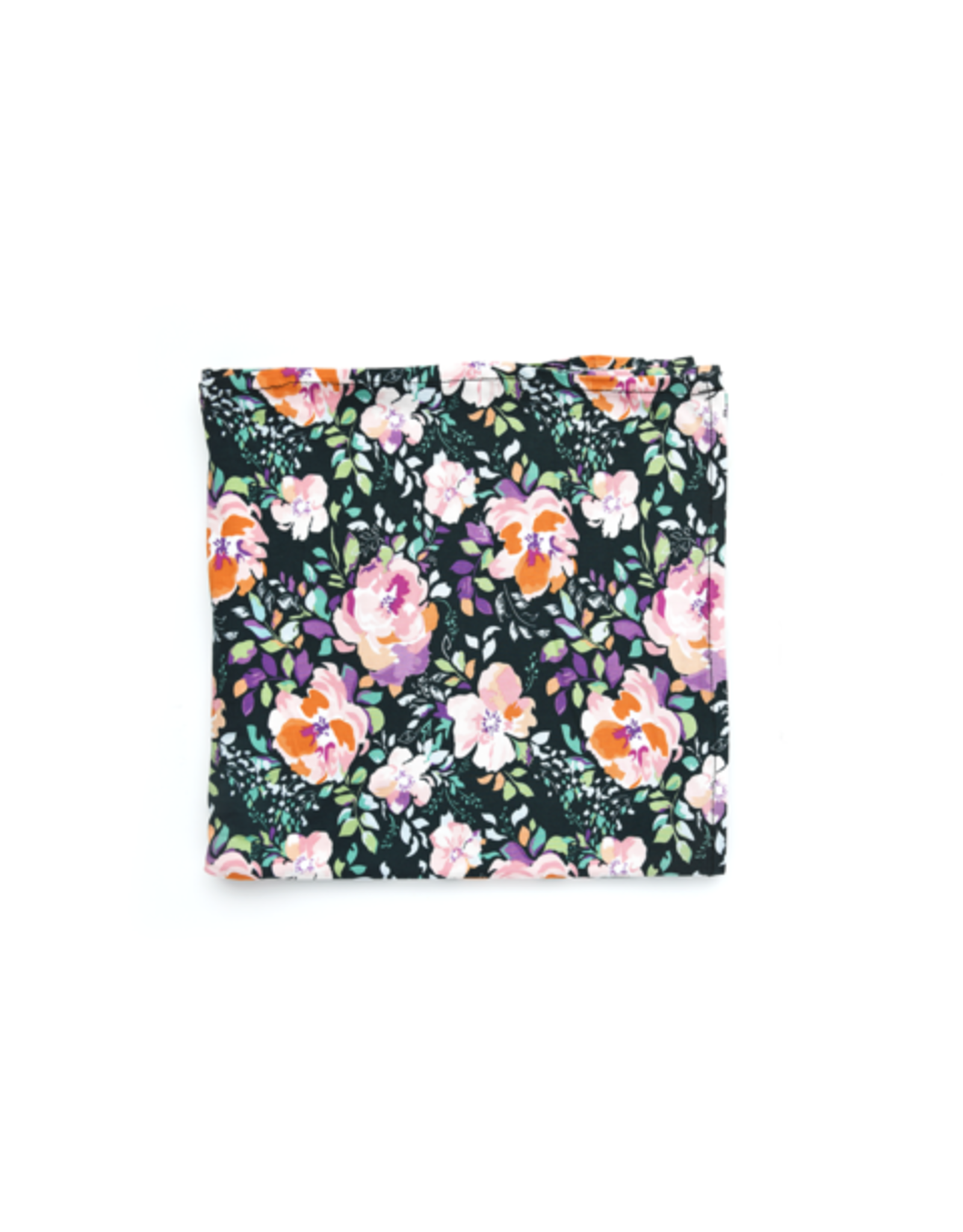 Gigi & Max Gigi & Max - Willow Charcoal Floral Swaddle Blanket