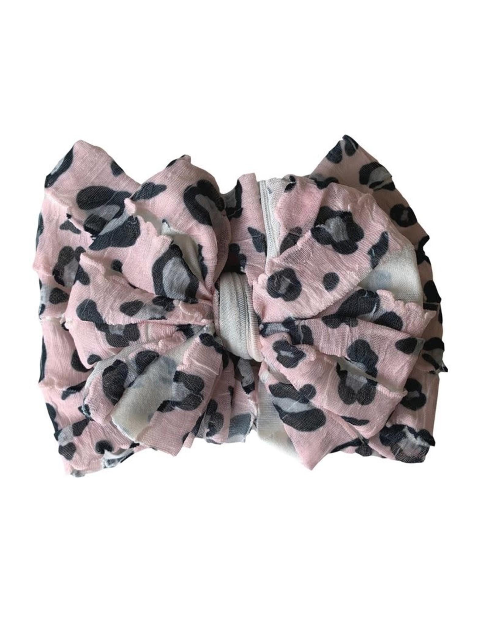 In Awe- Leopard Pink Headband